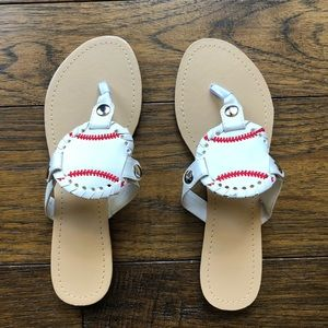 3206fd81a8fb37 Shoes - BASEBALL SANDALS!! Women s custom made game shoes